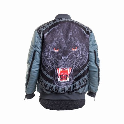 Maskulin Panther Bomber Jacket grey (SALE)