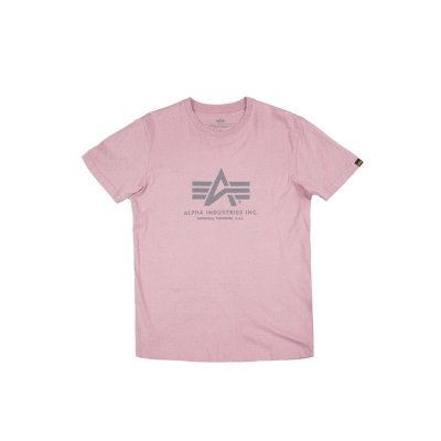 Alpha Industries Basic T-Shirt silver pink