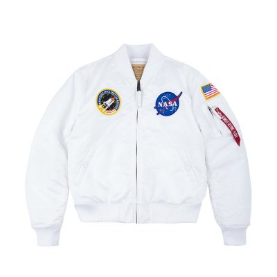 Alpha Industries - MA-1 VF NASA Bomberjacke white