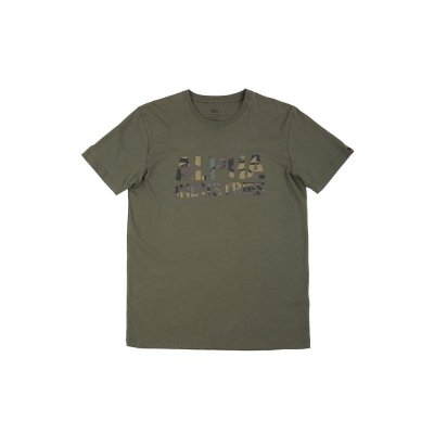 Alpha Industries T-Shirt Camo Print T dark olive