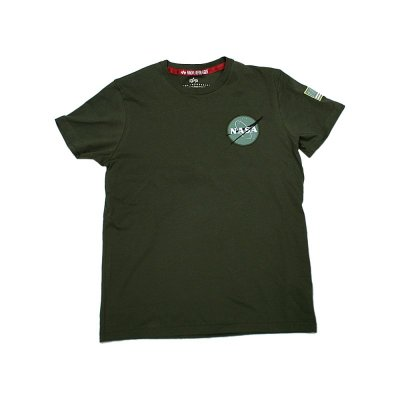 Alpha Industries T-Shirt Space Shuttle dark green