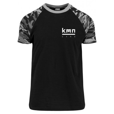 KMN Gang T-Shirt Logo Brust dark camo S