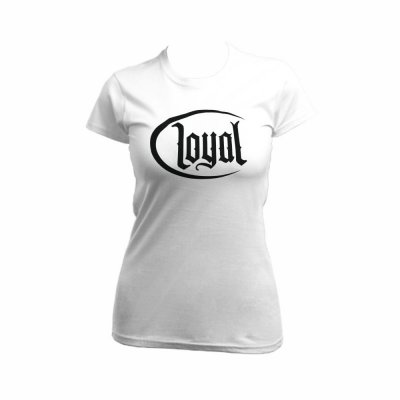 Kontra K Girlie Shirt Loyal Circle white/black XL