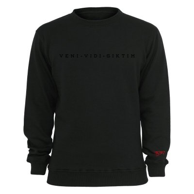 Nimo Sweater Veni Vidi Siktim black on black