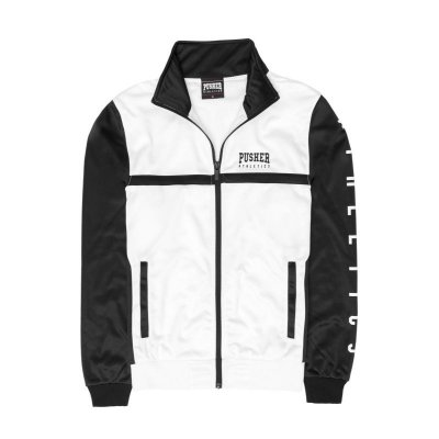 Pusher Apparel Athletics Track Jacket white XL