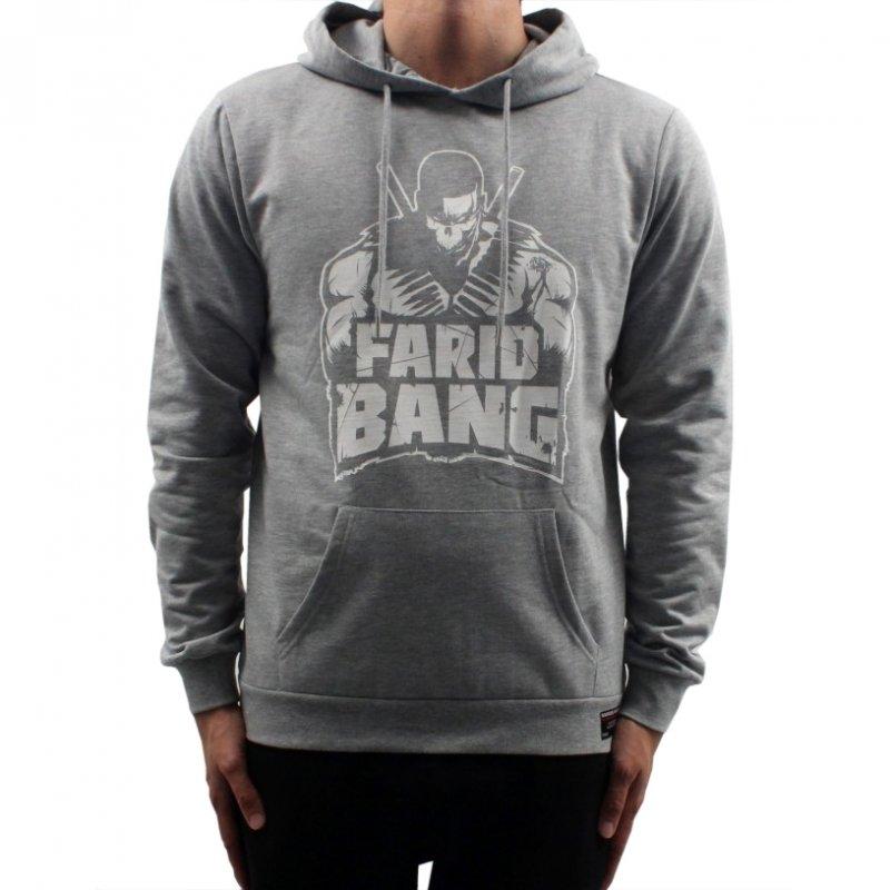 Farid Bang Hoodie Logo grau