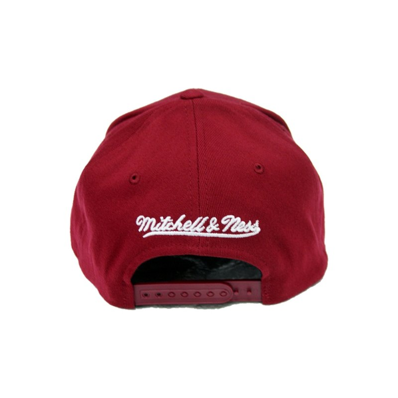 Mitchell /& Ness Snapback 110 Curved the Burgundy NCAA Georgetown burgundy//white