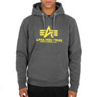 Alpha Industries Basic Hoodie charcoal heather