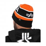 Alpha Industries Block Beanie flame orange