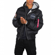 Alpha Industries Daunenjacke Hooded Puffer Apollo 11 black