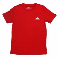 Alpha Industries Kinder Basic Small Logo T-Shirt speed red