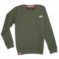 Alpha Industries Kinder Basic Sweater Small Logo dark olive