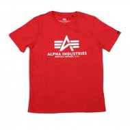 Alpha Industries Kinder Basic T-Shirt speed red