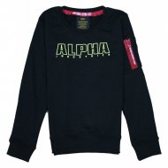 Alpha Industries Kinder Sweater Embroidery black