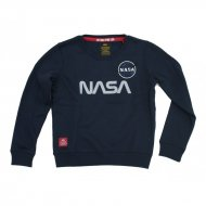 Alpha Industries Kinder Sweater NASA Reflective rep.blue