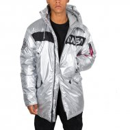 Alpha Industries Winterjacke N-3B NASA silber