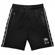 Chabos IIVII - Taped Sweat Shorts schwarz/weiss