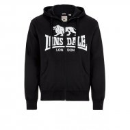 Lonsdale Slim Fit Zip Hoody Krafty black