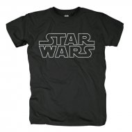 Star Wars - Logo Outlined T-Shirt schwarz