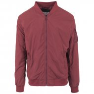 Urban Classics - Light Bomber Jacket burgundy