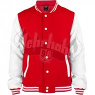 Urban Classics - Oldschool College Jacket red/wht