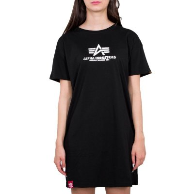Alpha Industries Damen Basic Long T-Shirt black