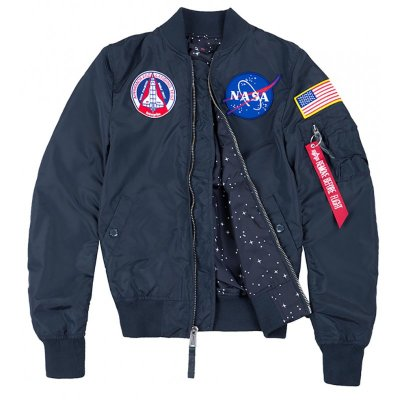 Alpha Industries Frauen Bomberjacke MA-1 TT NASA Reversible Wmn rep. blue
