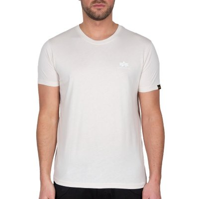 Alpha Industries Herren T-Shirt Basic Small Logo jet stream white/white
