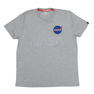 Alpha Industries Herren T-Shirt NASA Reflective grey heather