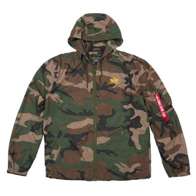 Alpha Industries Windbreaker Backprint woodland camo M