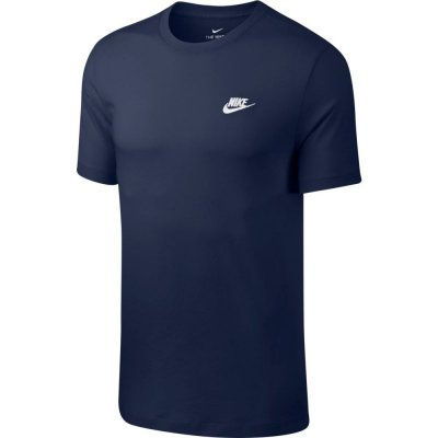 Nike Herren T-Shirt Embroidered Little Logo midnight navy/white