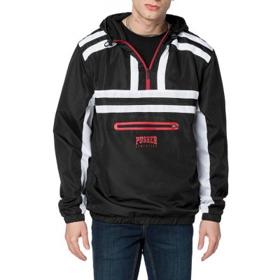 Pusher Apparel Authentic Windbreaker black/white