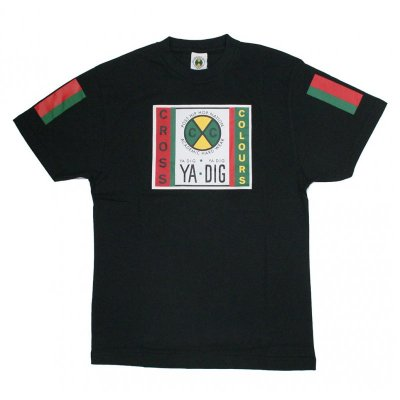 Cross Colours T-Shirt Label Logo black